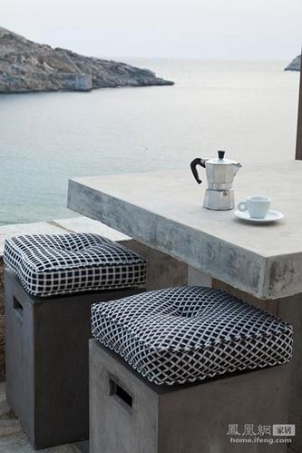 理想现代户外家具材料 混凝土也能时尚起来