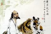 有人物出现的虎图不适合摆放在家中,因为人和老虎在一起,人的势力比较弱小,会被老虎的气势压倒,征兆不好。(实习编辑:辛莉惠)