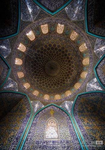 爱上伊朗中东文化纹饰 绚烂无比的迷宫天花板