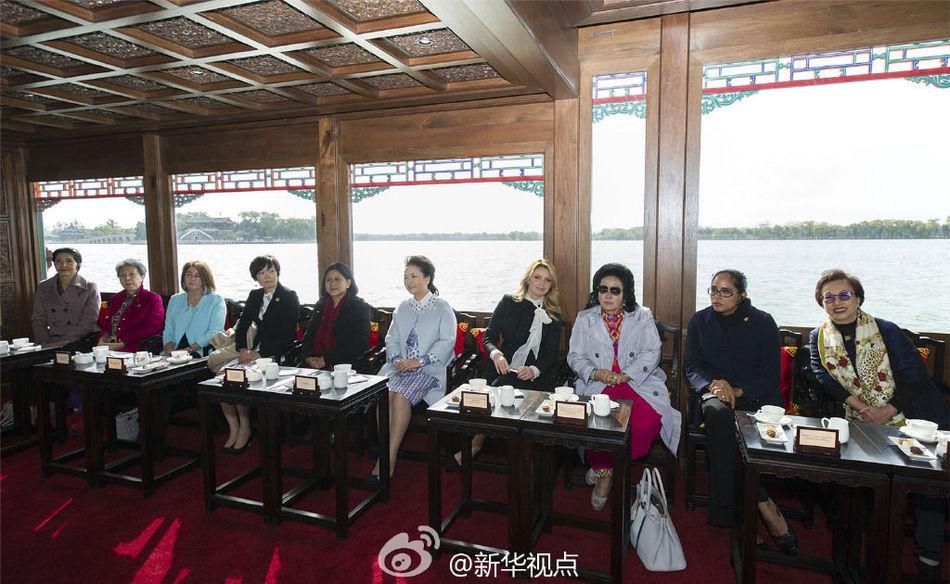 与出席2014年APEC领导人非正式会议的部分经济体领导人或代表的图片