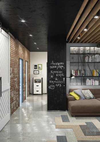 """室内设计界的""""制服诱惑"""" 工业冷感的LOFT公寓设计"""