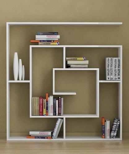 书架设计效果图-图案百变的书架 创意贴合阅读习惯