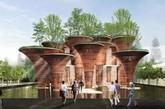 """2015年米兰世博会的越南馆是由Vo Trong Nghia Architects设计,采用快速增长和低碳的竹子作为材料。  越南馆为大家展示了可持续性发展,符合这次世博会的主题——""""给养地球,生命的能量""""。(实习编辑:周芝)"""