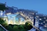 国内首家水主题设计酒店 :深圳茵特拉根瀑布酒店。(实习编辑:周芝)
