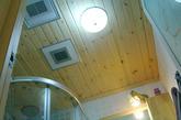 屋顶也是桑拿板吊顶,要的就是这种感觉,哈哈。