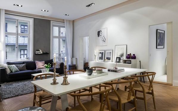 90平米优雅北欧风格公寓设计 将极简主义进行到底