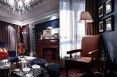 深色的墙面和家具,是英伦风格的标志之一