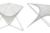 两个抛物面合并成一个表面充当座位、靠背和扶手,并由一个轻质的框架支撑着。表面是由一个个的不锈钢网格构成,像是超市的手推车,与周围环境融为一体。宝石红色的坐垫格外显眼,却也华而不宣。(实习编辑:谭婉仪)