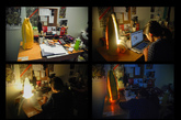 7. 香蕉台灯 通常不同的场合我们需要不同方向和亮度的光线,尤其是学生党考试前刷夜,点着刺眼的台灯又担心会影响室友休息。本科生 Jin Diana Du 估计也有这样的苦恼,于是设计出了这款香蕉台灯,巧妙的给台灯套了个壳,想让光往哪照,就破掉哪个方向的皮。(实习编辑:谭婉仪)