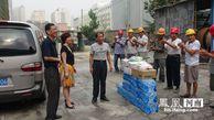 郑州市军干一所酷暑送清凉 关爱慰问农民工