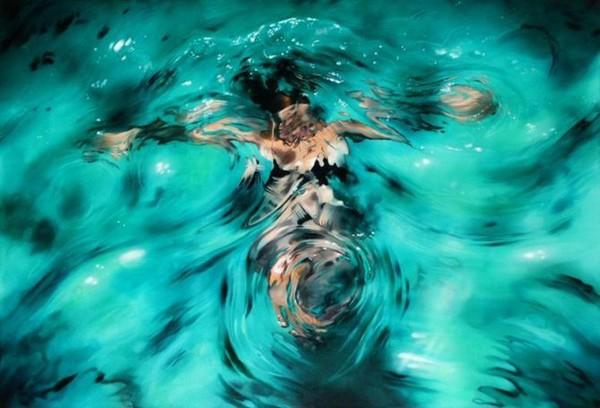 手绘插画:水中舞(组图)