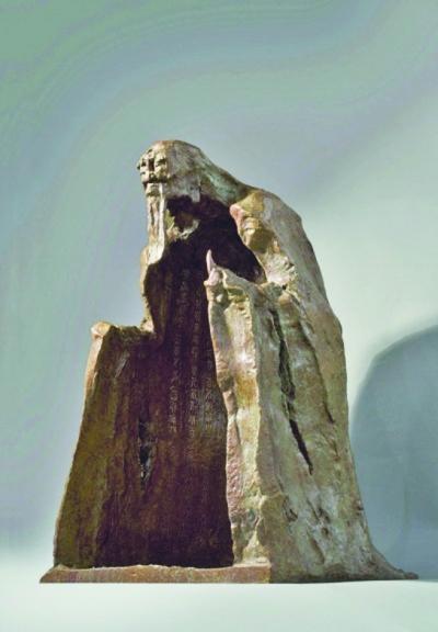 """苏州老子""""龇牙吐舌""""雕塑 网友戏称像""""吊死鬼_石材幕墙资料"""