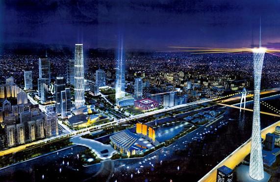 广州电视塔全景图