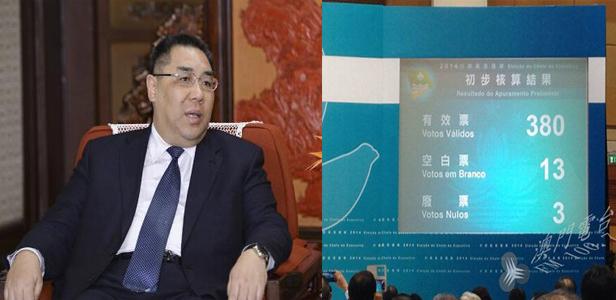 快讯:崔世安当选澳门特区第四任行政长官人选