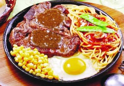 豪享来创造了西餐牛排的中式吃法