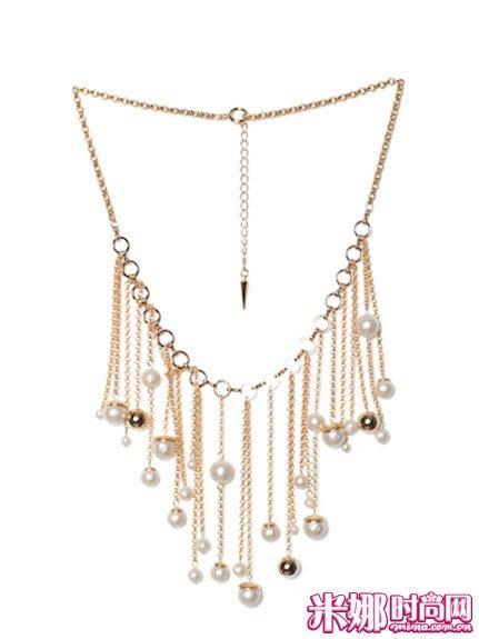 珍珠吊坠流苏项链