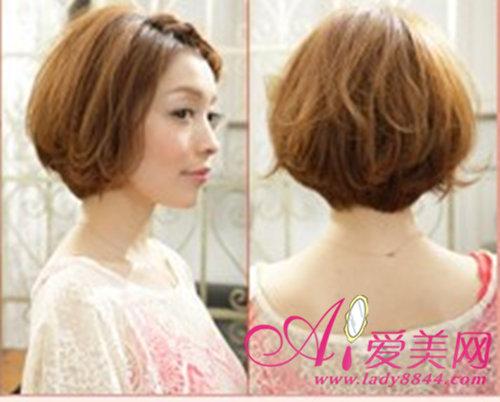 夏天短发发型扎法 刘海编发甜美清新
