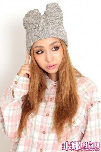 dazzlin 猫耳针织帽