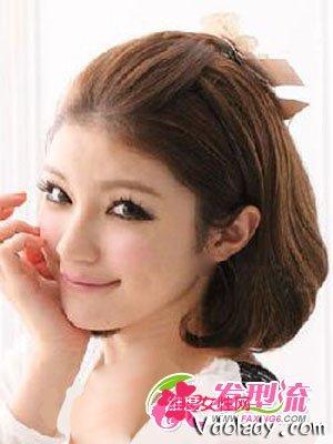 六款迎新韩式发型MM开运年必备美女情感发型短发图片