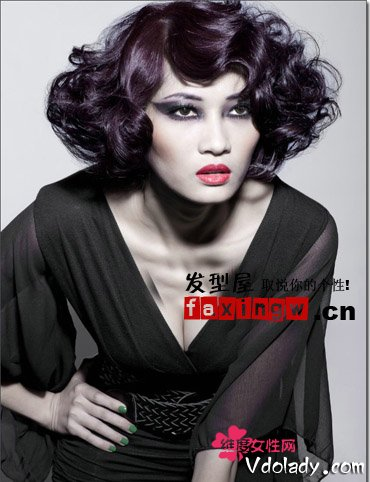 时尚发型50短发短v时尚复古优雅又冷艳妩媚林峰短发年代图片