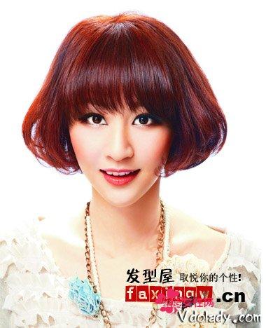 内扣公主烫发大全a公主编发时尚美感OL短发发型头刘海打造知性图片图片