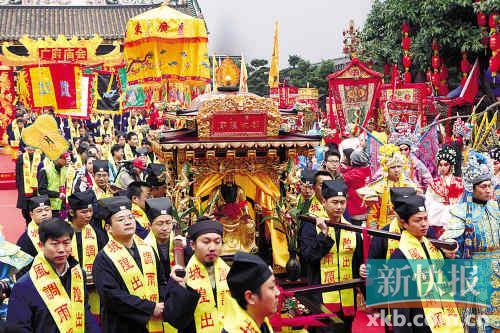 广府庙会保留着传统特色,资料图片。