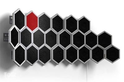 六角形的蜂巢设计,可以从8个到30个扩展图片