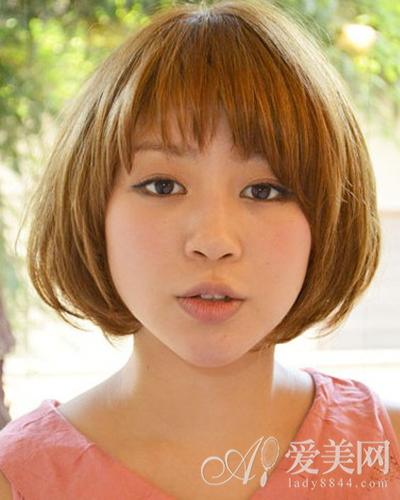染色蘑菇头短发图片