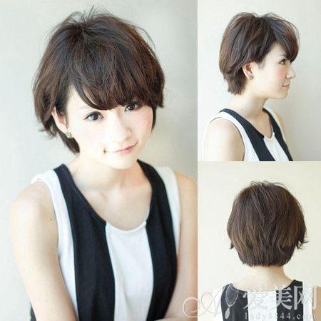 时尚中短发发型 染发显美白肌肤