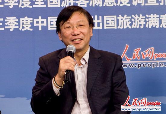 北京联合大学旅游学院副院长张凌云教授(人民网刘佳摄)