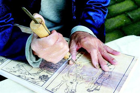 木版年画制作过程