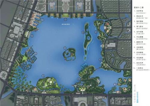 铜陵国际西湖风景区规划图曝光