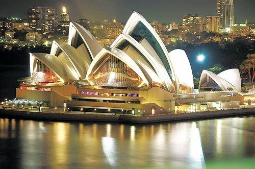 悉尼歌剧院夜景
