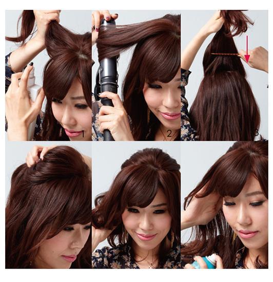 3款潮流韩范发型打造步骤详解|造型| 头发_凤凰时尚