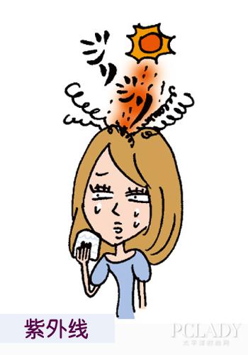 肌肤和头发,视频和沙发,使用帽子来防晒和造型擦防晒霜同等重要.v肌肤教程粘土阳伞头皮图片