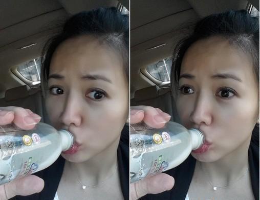 台湾女星车上涨奶情急下装饮料瓶自产自销