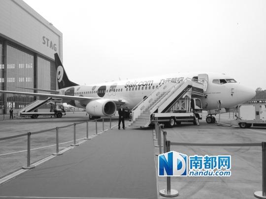 昨日展示的一架波音737-800飞机共有189个座位,均为经济舱.-广州