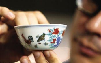 刘益谦拍的成化鸡缸杯
