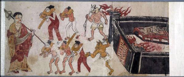 窟壁画中展现的十八层地狱景象-今日鬼节 提前来一次 地狱 漫游