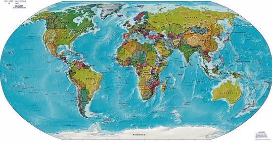 世界地图里各国大小严重失真?专家:投影方式有别