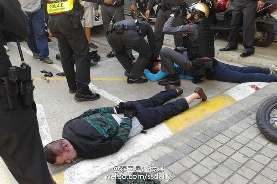 曝5名中国人持玩具枪在泰国抢真枪1人被击毙