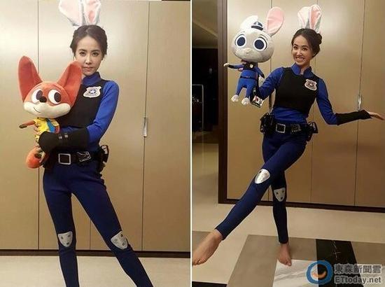 [有看点]蔡依林穿制服扮兔警官朱迪 网友:快逮捕我