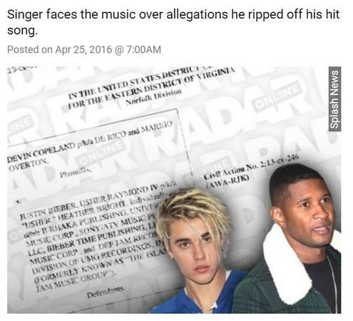 比伯被告抄袭歌曲第3度面临诉讼 或赔6500万 [有看点]