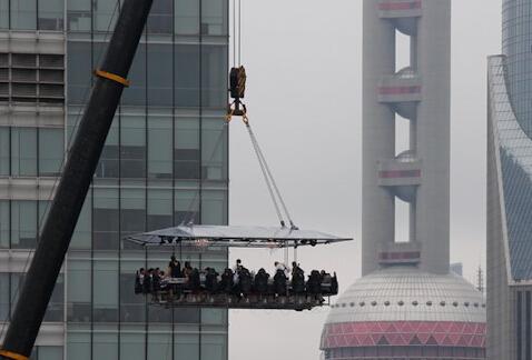 上海,位于陆家嘴的空中餐厅开始营业