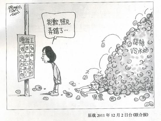 台湾讽刺漫画:抱歉,照片弄错了