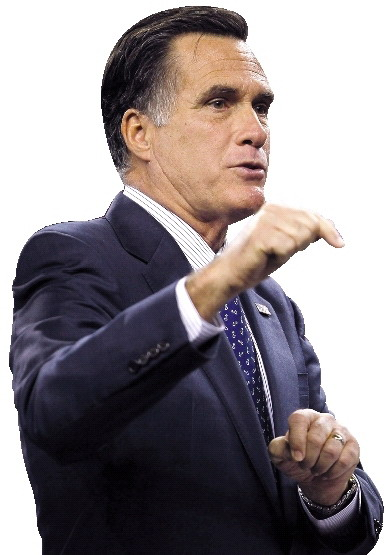 美国共和党总统竞选人罗姆尼。