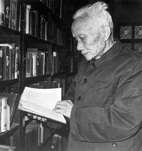 图为朱光潜教授(1980年摄)。 新华社发