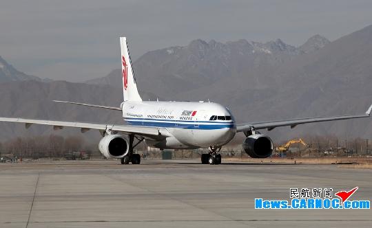 图:资料图片:国航西南分公司空中客车a330飞机从成都抵达拉萨贡嘎机场