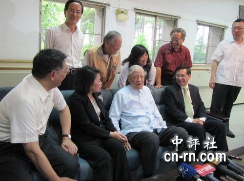 李登辉到嘉义市,蓝绿政治人物都到齐