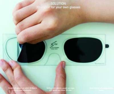 3d眼镜贴纸